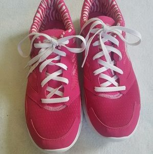 Pink Skechers Go Fit Gym Shoes--Size 11 Like New!